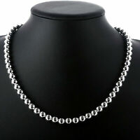 "NEW  925 Sterling Silver 8mm*20"" Hollow Beads Chain Necklace"