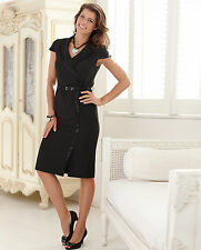Simply Be Size 28 Little Black DRESS Belt Flattering Party New Evening Occasion