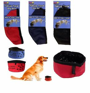 Pet Touch Fold Up Travel Pet Dog Puppy Bowl For Water & Food