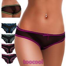 Slip donna culotte mutandine velate trasparenti intimo lingerie sexy nuovo 8871
