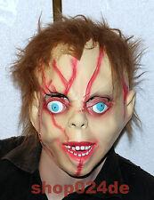 Halloween Horror Latex Maske Fasching Karneval Ganzkopfmaske Chucky Mörderpuppe