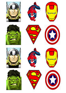 Avengers Marvel Cupcake / Cakesicle Toppers | Edible Print | Icing / Wafer