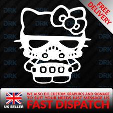 HELLO KITTY STORM TROOPER Car/Van/Truck/Bumper/Window/Laptop Vinyl Sticker/Decal