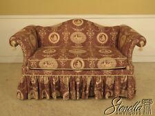 L42126: HICKORY CHAIR CO Upholstered Decorator Formal Print Upholstered Loveseat