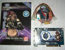 Sapphire ATI hd2600pro 512mb tarjeta gráfica AGP AMD Radeon HD 2600 agp8x DVI VGA TV