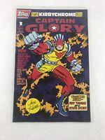 Captain Glory 1 of 1 1993 Comic Book Kirby Chrome Trading Card Topps Comics