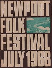 PETE SEEGER / JUDY COLLINS 1966 NEWPORT FOLK FESTIVAL CONCERT PROGRAM / EX