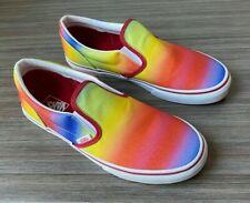 Vans Classic Slip-On Skate Shoes Women's Size 7.5 Kids 6 Rainbow Glitter