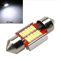 Aluminum LED Light Bulb Car Auto Inner Dome Festoon Bright Lamp 12SMD 4014 31mm