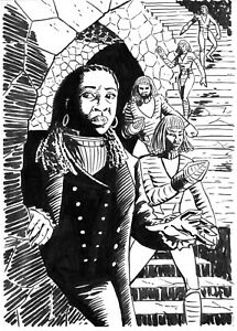 DOCTOR WHO ORIGINAL ART: THE FUGITIVE DOCTOR AND THE MOVELLANS BY SCOTT GRAY