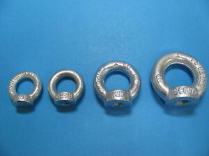 Ringmuttern Augenmuttern Ösenmutter C15 E verzinkt DIN 582