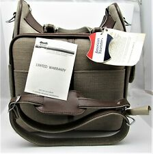 """American Tourister Escort 1616 13"""" Shoulder Tote Carry On Bag with Tags Brown"""