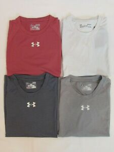 NEW MENS UNDER ARMOUR HEAT GEAR S/S LOOSE FIT STRIPED T-SHIRT, PICK SIZE & COLOR