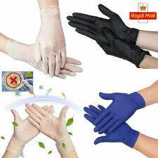 Vinyl Gloves Powder & Latex Free Strong White Food Nitrile Clear UK