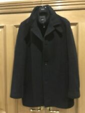 Hugo Boss Charcoal Mens Wool Winter Coat Size 054 - Preowned