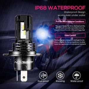 NOVSIGHT H4 ZES LED Headlight Bulb 28W 5000LM White Beam Motorcycle Lamps 6000K