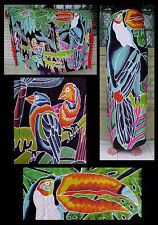 Batik Sarong Made in Bali Parrots and Toucan Design