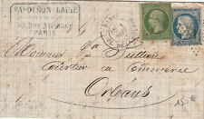 Lettre 1871 Septembre 1er Jour Du Tarif Paris Pl.De la Bourse TTB Brief Cover