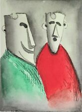 """Pro Hart Limited Edition Etching Titled """"The Conversation"""" Signed by the Publish"""
