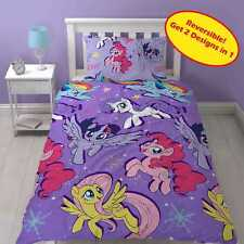 MY LITTLE PONY MOVIE SINGLE DUVET QUILT COVER SET GIRLS KIDS PURPLE BEDROOM GIFT