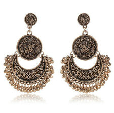 Women Ethnic Style Alloy Dangle Earrings Elegant Vintage Charm Bohemian Jewelry