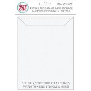 Avery Elle ~ STAMP & DIE STORAGE ~ Extra Large ~ Set of 50 Storage Pockets