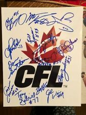 CFL Football Legends HOF Autographed Signed Photo x 14 Jackson Gabriel Mosca