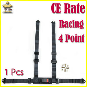 4 Point Car Racing Bucket Safety Seat Belt Harness Adjustable Universal Quality