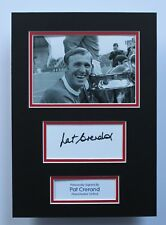 Pat Paddy Crerand Manchester United HAND SIGNED A4 Autograph Photo Mount + COA