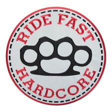 Ride Fast Hardcore Brass Knuckles Patch, Biker Back Patches