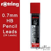 24 PENCIL LEADS 0.7mm HB Refills for Mechanical Pencils by Rotring