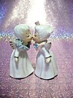 **RARE* VTG Napco Miniature Kissing Angel Girl Boy Couple Figurines