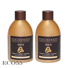 COCOCHOCO Gold Keratin Hair Straightening Treatment 8.4oz / 250ml, 2 Bottles