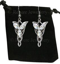 Lord of the Rings Silver EVENSTAR Earrings Hobbit LOTR Drop Dangle Arwen +Bag