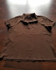 Cherokee Woman's XXL Brown Polo Short Sleeved Shirt