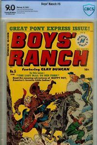 BOYS RANCH #5- CBCS 9.0- HIGRADE COPY 1951 HARVEY SIMON & KIRBY CVR- SUPER NICE