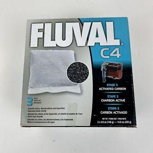 3-Pack Fluval C4 Filter Activated Carbon Stage 3 Aquarium Media Refill 14.8 oz.