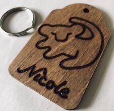 Personalised Wooden Lion King Key Ring Simba Symbol Keepsake Gift Love Engraved