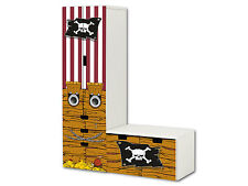 Piraten Aufkleber passend für STUVA Kombi (L-Form) von IKEA - SL09