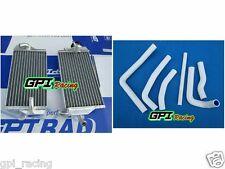 Aluminum Radiator & white  hose Honda CR250 CR250R CR 250R 2000 2001 00 01