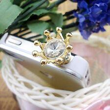 3.5mm Crystal Crown Anti Dust Earphone Plug Cap Stopper For iPhone 6 Samsung LG