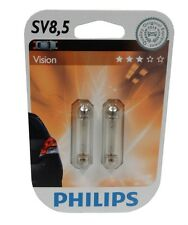 Philips 12866B2 blister de 2 ampoules SV8,5 C10W 12V 10W navettes 43mm  - C2964
