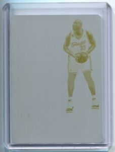 2017-18 NOIR Printing Plate Yellow Shaquille O'Neal 1/1 Cleveland Cavaliers