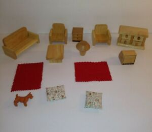 Wooden Doll Furniture Furniture, Rugs, dog
