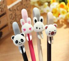 2Pcs Cute Kawaii Fun Black Gel Ink Roller Ball Point Pen Cat Stationery Gift YH