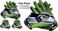 Seattle Seahawks Auto Car Window Wall Vinyl Sticker Glove Decals -FAN PACK DEAL!