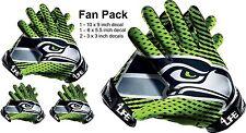 Seattle Seahawks Auto Car Window Wall Vinyl Sticker Glove Decals -fan Pack Deal