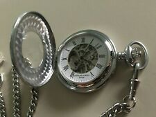 Charles Hubert Paris Chrome Pocket Watch - Excellent condition