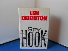 LEN DEIGHTON:SPY HOOK: US FIRST EDITION  FIRST REPRINT: EXCELLENT COPY.