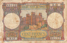 Billet banque MAROC MOROCCO 100 FRANCS 19-04-1951 B.43 état voir scan 122